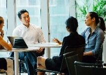 Sales meeting.