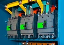 Electrical System - Circuit breaker Manual shutdown Electric power contact breaker Power outage Mechanical blockage of electricity Electrical equipment Automatic switch in.