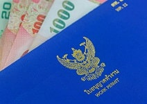 currency and work permit document.