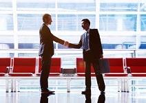 Businessmen Talking Business