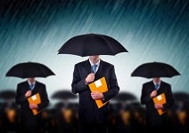 International Business Insurance - Business teamwork, insurance agents and consultants in corporate crisis situation